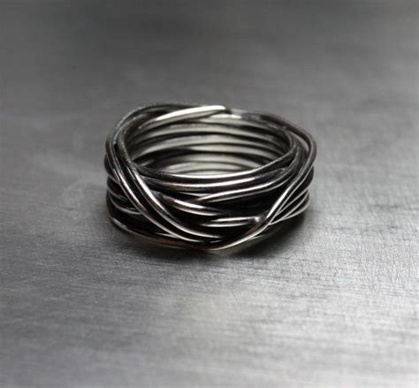 mens ring mens wedding band wire wrapped ring by jenniferwood pretty baubles pinterest