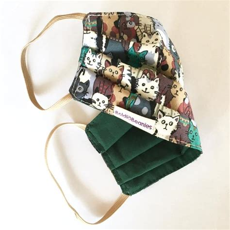 mask face cat surgical fun fabric masks washable bold cotton