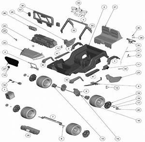 Power Wheels Deluxe Jeep Wrangler Parts