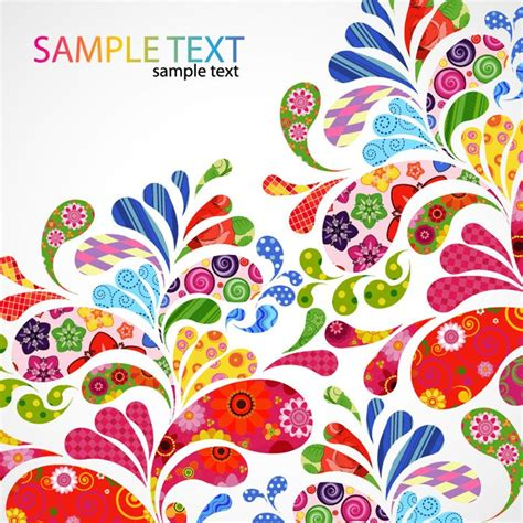 free graphic design colorful floral design vector graphic free vector