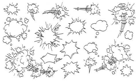 Nuvem de velocidade em quadrinhos conjunto de nuvens de