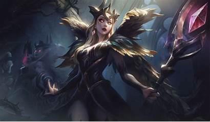 League Legends Morgana Zyra Coven Splash 4k