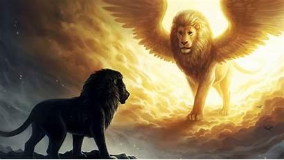 Lion Fantasy Dark Artwork King Animals Spiritual