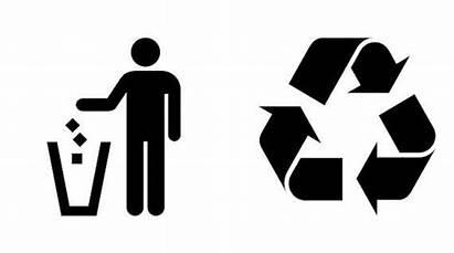 Silhouette Garbage Recycle Recycling Trash Bin Bins