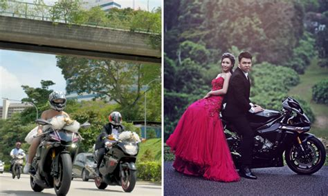 Singaporean Couple Rides With Motorcycle Convoy -- Right
