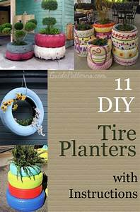 11 Tire Planters With Diy Instructions