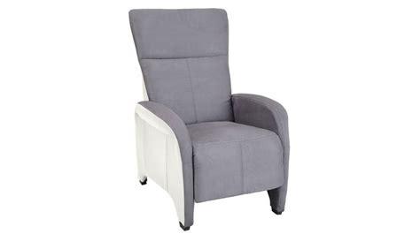 fauteuil relax manuel gris et blanc pas cher fauteuil
