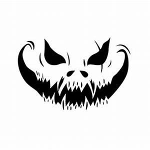 Mean, Pumpkin, Face, Stencil, -, 10, Mil, Clear, Mylar