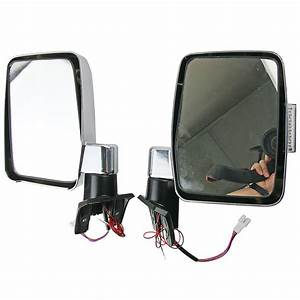 Lh Rh Chrome Exterior Side Mirror For W   Led For Toyota