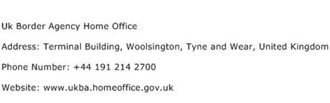 uk border agency home office address contact number  uk