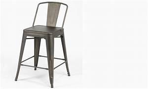 Chaise En Acier : chaise bar industrielle en acier bistrot lot de 4 ~ Teatrodelosmanantiales.com Idées de Décoration