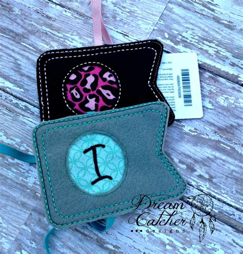 hoop library card planner book mark embroidery