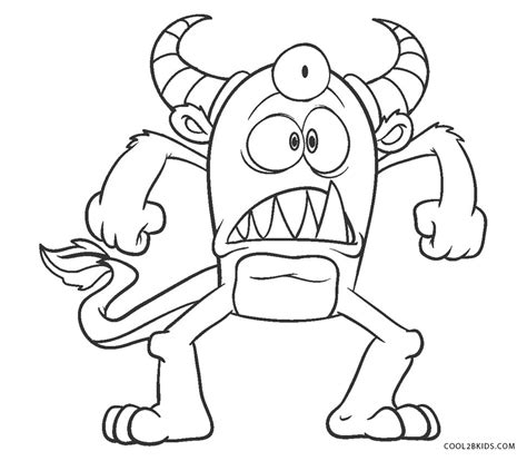 printable monster coloring pages  kids coolbkids