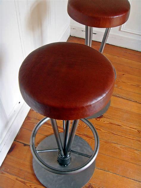 chaise de bar assise cuir tabouret de bar style and steel jpg chaises