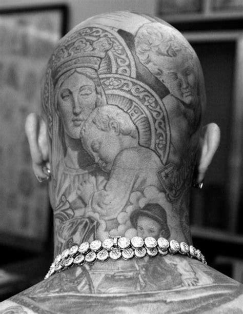 Pin by Aries-RR on INK | Head tattoos, Scalp tattoo, Bald head tattoo