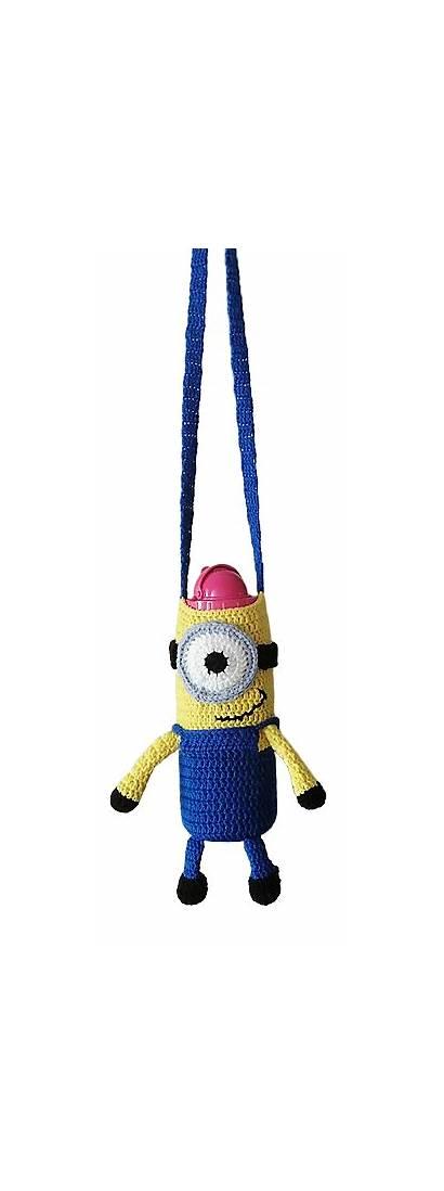 Crochet Bottle Minion Water Sling Cozy