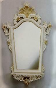 Spiegel Mit Ablage Weiß : wandspiegel barock mit konsole wei gold spiegel ablage antik 78x50 oval cp93 kaufen bei ~ Indierocktalk.com Haus und Dekorationen