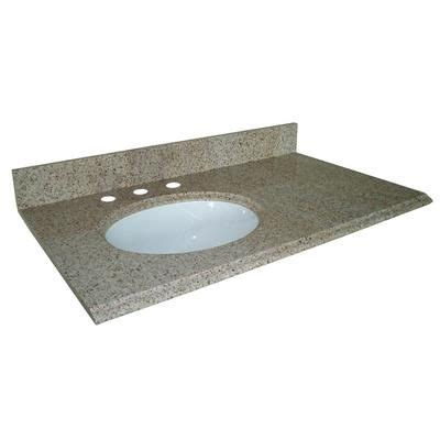 pegasus beige granite vanity top  left bowl