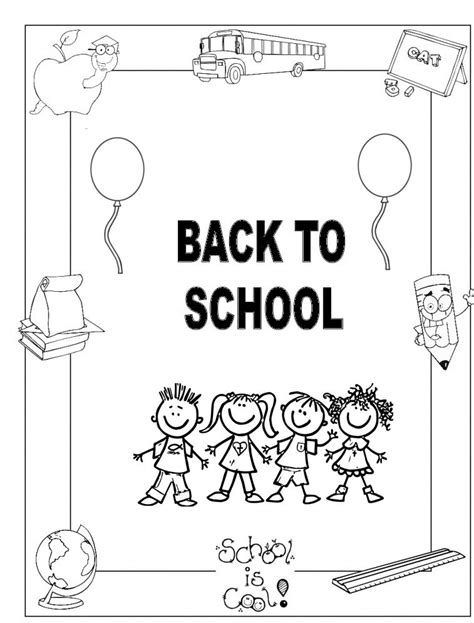 back to school coloring crafts and worksheets for
