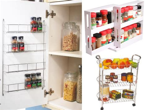 Swivel Store Spice Rack by Swivel Store Cabinet Organiser 4 Tier Wall Spice Rack