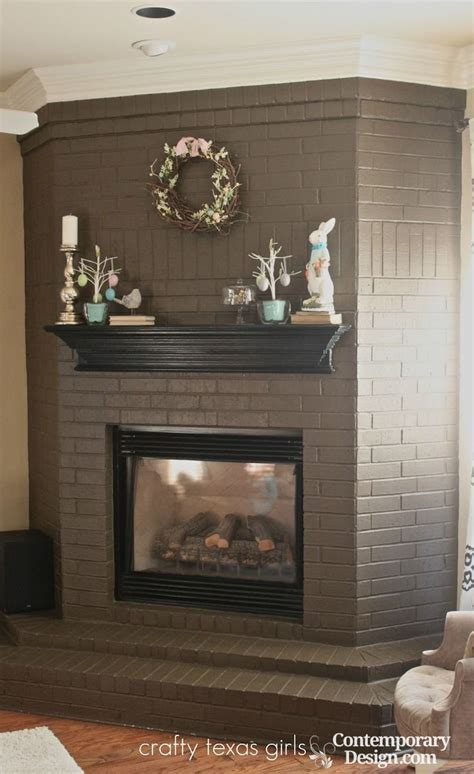 best color to paint brick fireplace