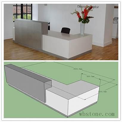 Desk Reception Office Shape Corian Counter Classic