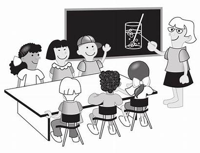 Classroom Clipart Class Teacher Teaching Space Students