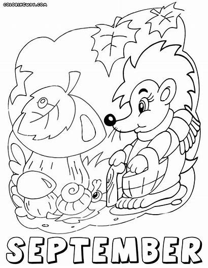 September Coloring Pages Months Month Printable Hobby