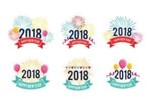 happy new years postcard feliz año nuevo 2018 saludo vectores gratis descargue