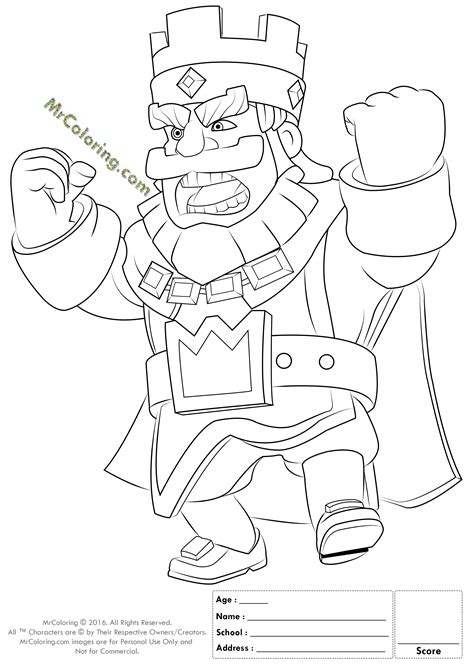 Clash Royale Kleurplaat Ijstovenaa by Printable King Clash Royale Coloring Pages 1
