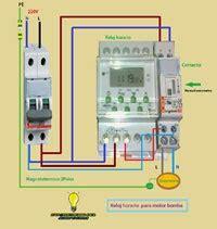 reloj horario contactor maniobra motor bomba piscina esquemas el 233 ctricos