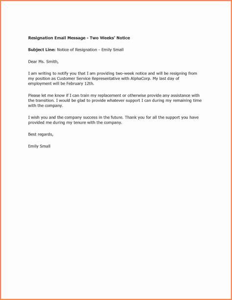 sample resign letter  weeks notice notice letter