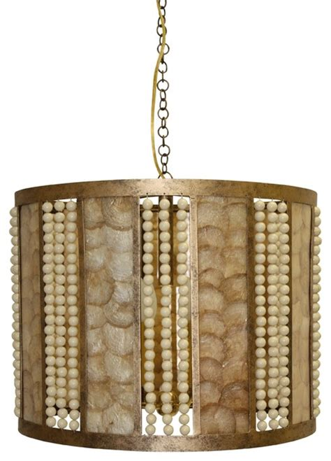 Capiz Drum Chandelier by Ariel Drum Shape Capiz Chandelier Chandeliers By Dr