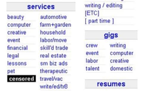craigslist resumes san diego craigslist breaks silence on quot censored quot section nbc bay area
