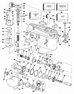 Johnson 1986 70 - J70tlcdc  Gearcase