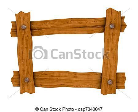 illustrations de bois cadre planche une cadre fait 224 quatre bois csp7340047