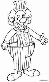 Clown Coloring Happy Drawing Draw Evil Printable Scary Cool2bkids Getcolorings Getdrawings Creepy sketch template