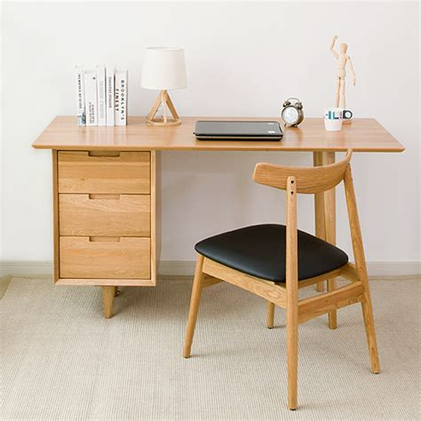 bureau massif moderne nordic bois massif pur chêne bureau 1 4 m moderne et