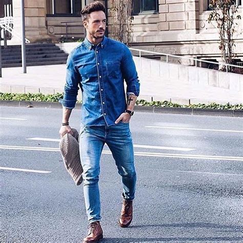 Mens Denim Outfit - menu0026#39;s chambray and denim style famous outfits ... | Denim Fever | Pinterest ...