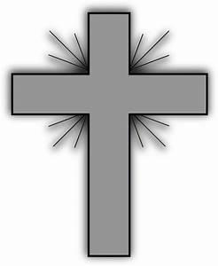 Gray Cross Clip Art at Clker.com - vector clip art online ...
