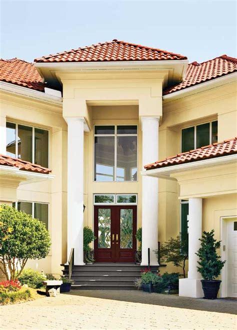 mediterranean home exterior colors tile roof
