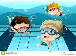 Kids Swimming Lessons Clipart - ClipartXtras