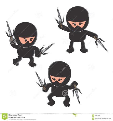 ninja cartoon character stock photo image