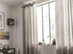 Voilage Fenetre Salon : rideau voilage vitrage et rideaux sur mesure leroy merlin ~ Teatrodelosmanantiales.com Idées de Décoration