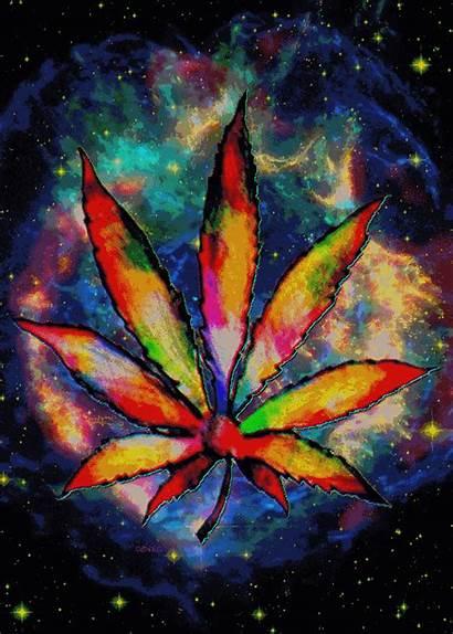 Animated Marijuana Weed Trippy Leaf Pot Hemp