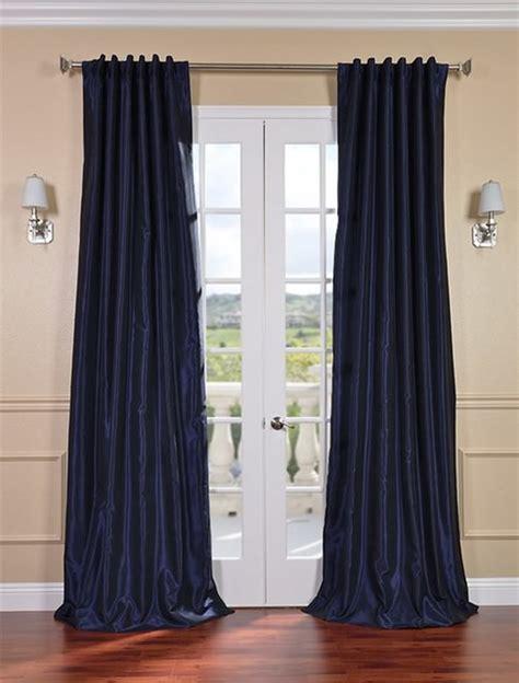 lunar blue vintage textured faux dupioni silk curtain