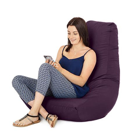 purple gamer bean bag gaming chair big outdoor