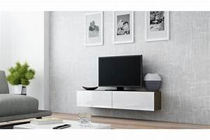 Banc Tv Suspendu : meuble tv design suspendu vito 140cm chloe design ~ Teatrodelosmanantiales.com Idées de Décoration