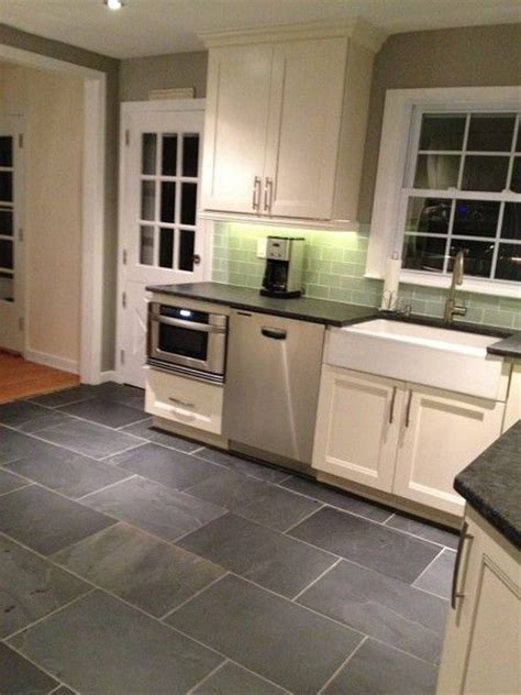 kitchen slate floor best 25 slate kitchen ideas on 3073