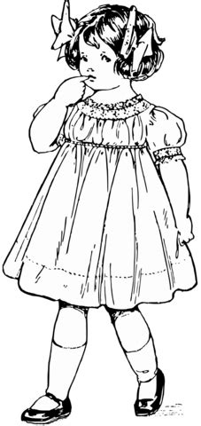 girl  victorian dress coloring page  printable coloring pages